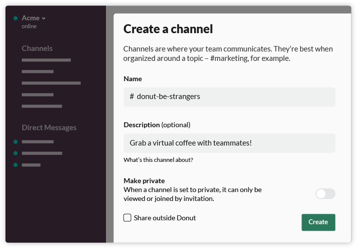 create-a-donut-channel